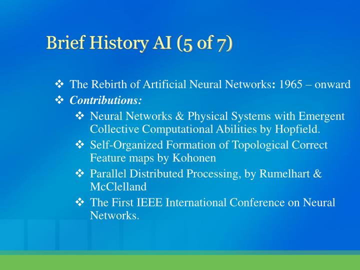 The Rebirth of Artificial Neural Networks
