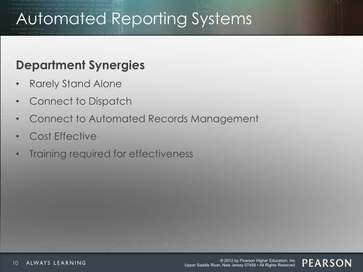Automated Reporting Systems