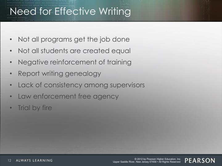 Need for Effective Writing