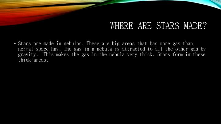 Where are stars made?
