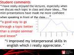 student comments