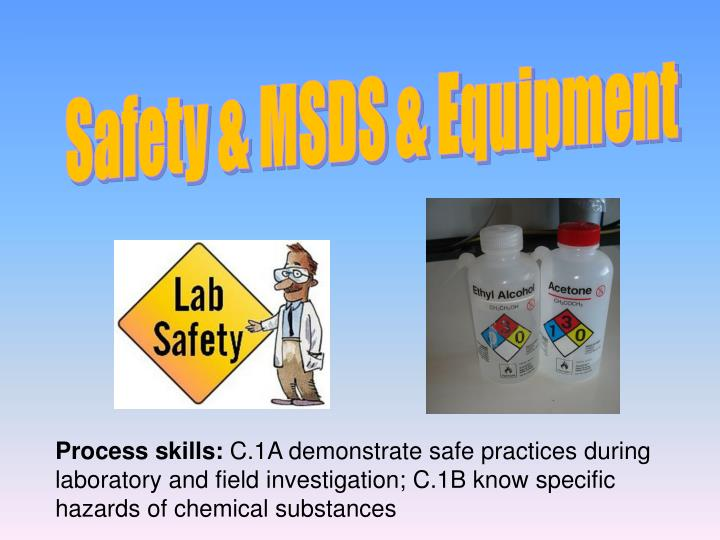 Safety & MSDS & Equipment