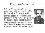 friedmann s universe