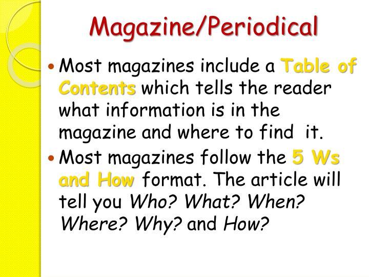 Magazine/Periodical