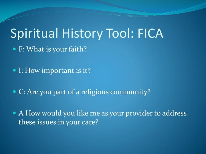Spiritual History Tool: FICA