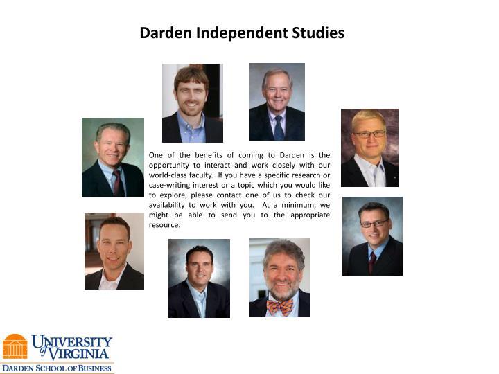 Darden Independent Studies