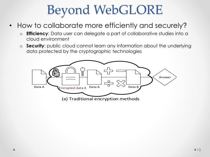 Beyond WebGLORE
