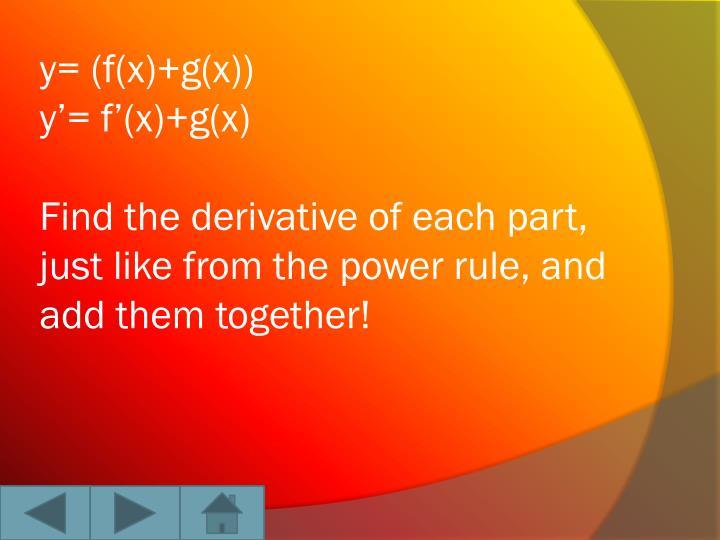 y= (f(x)+g(x))