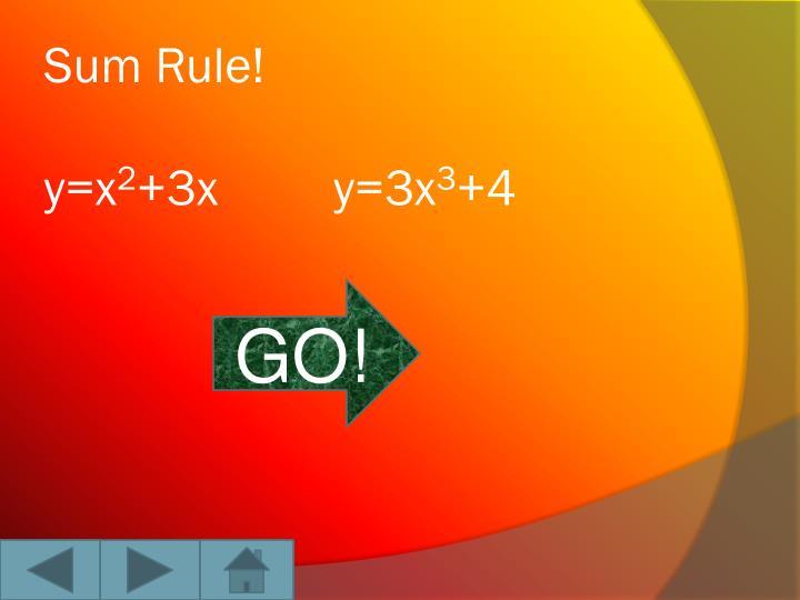 Sum Rule!