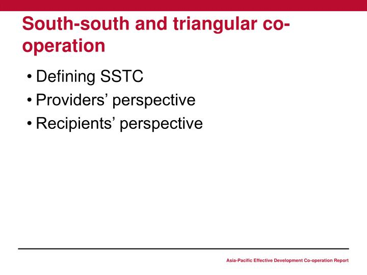 South-south and triangular co-operation