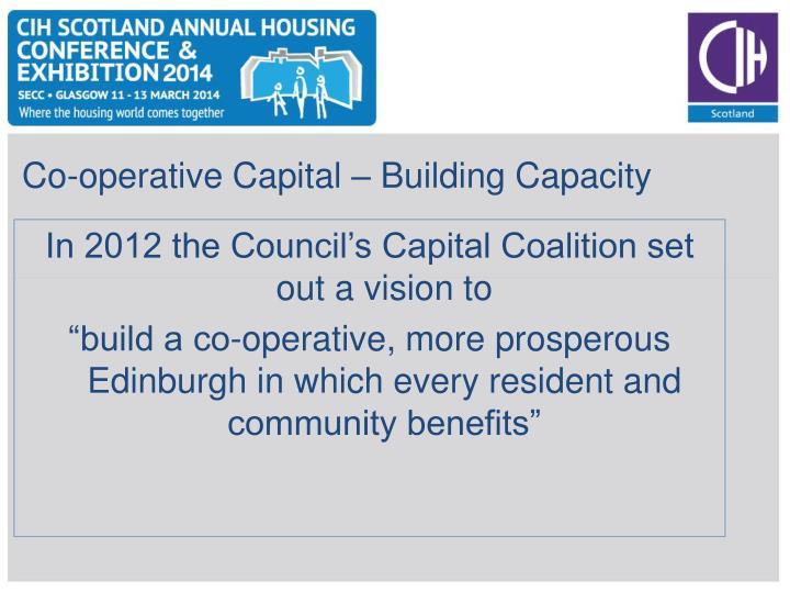 Co-operative Capital – Building Capacity