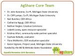 agshare core team