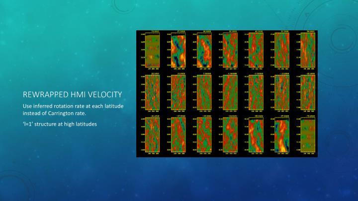 Rewrapped HMI velocity
