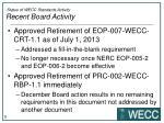 status of wecc standards activity recent board activity1