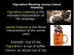 figurative meaning versus literal meaning