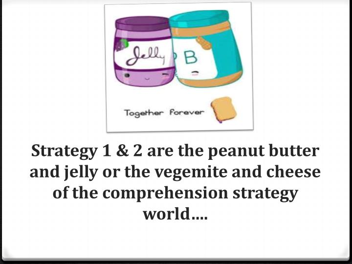 Strategy 1 & 2 are the peanut butter and jelly or the vegemite and cheese of the comprehension strategy world….
