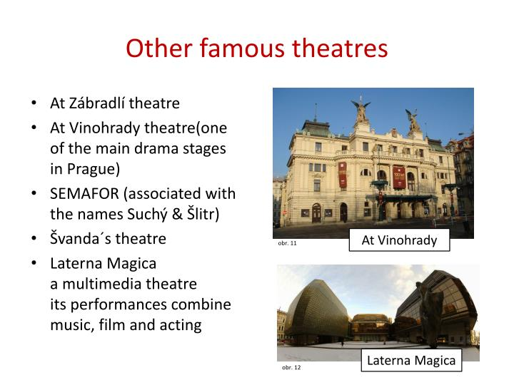 Other famous theatres