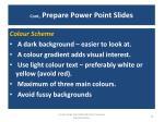 cont prepare power point slides