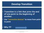 develop transition