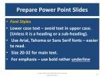prepare power point slides