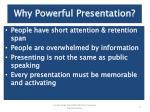 why powerful presentation