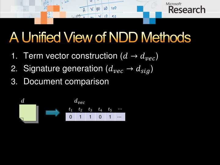 A Unified View of NDD Methods