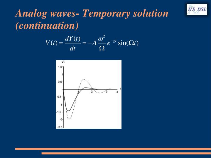 Analog waves-