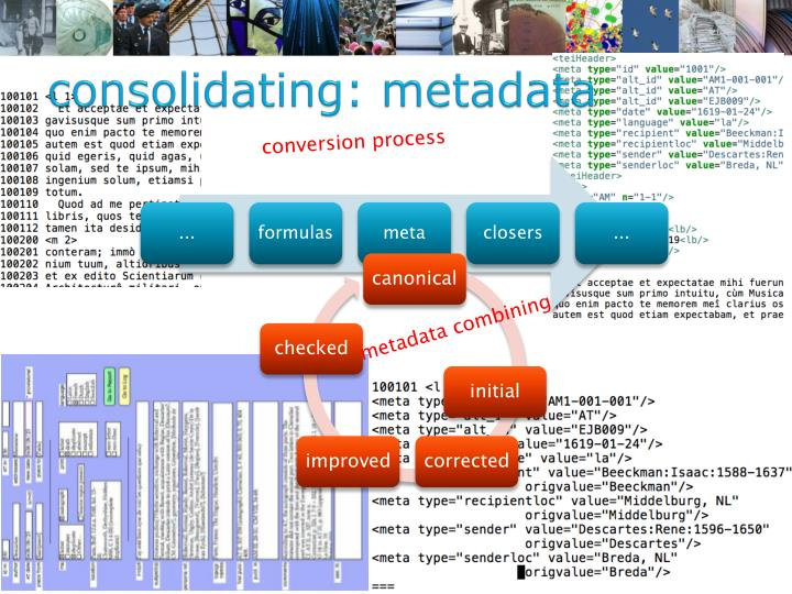 consolidating: metadata