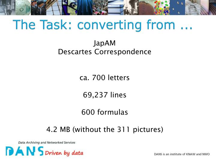 The task converting from
