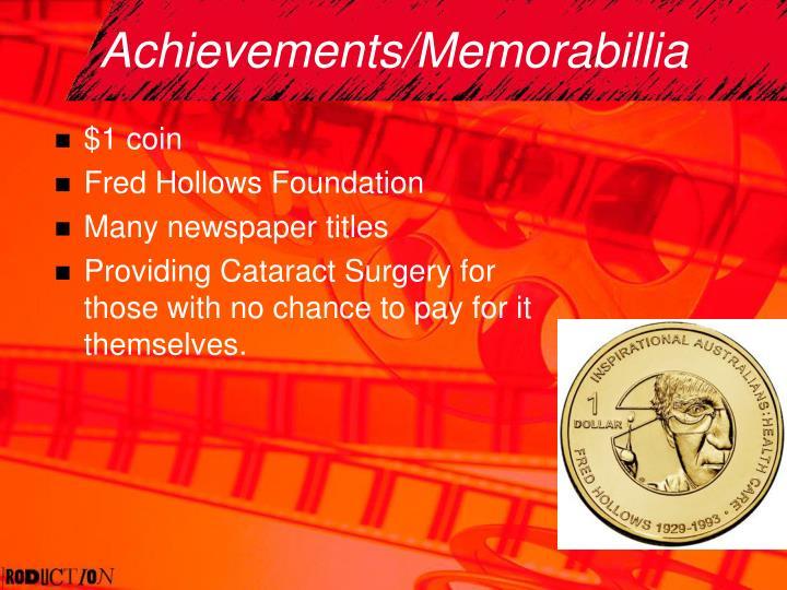 Achievements/