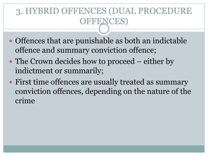 3. HYBRID OFFENCES (DUAL PROCEDURE OFFENCES)