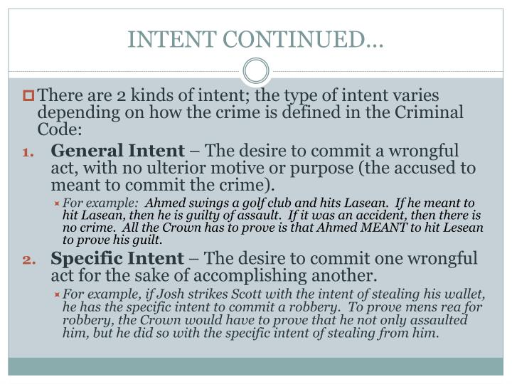 INTENT CONTINUED...