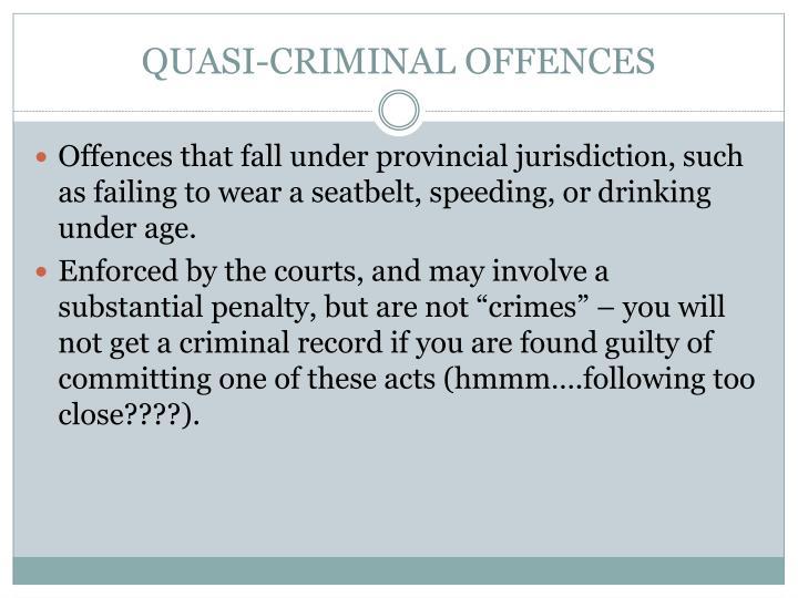 QUASI-CRIMINAL OFFENCES