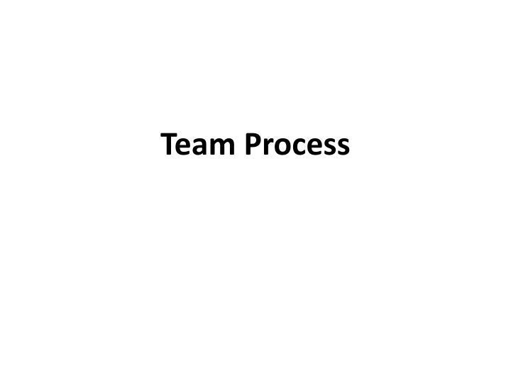 Team Process