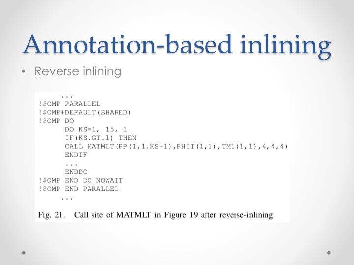 Annotation-based