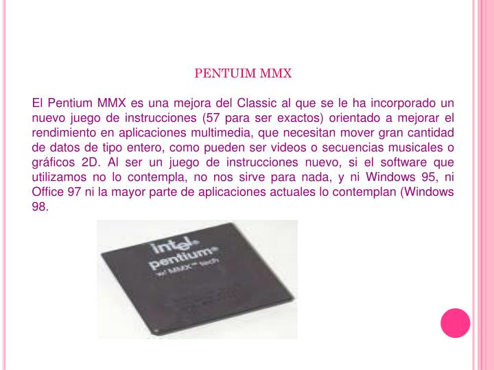 PENTUIM MMX
