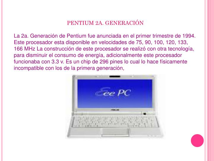 PENTIUM 2A. GENERACIÓN
