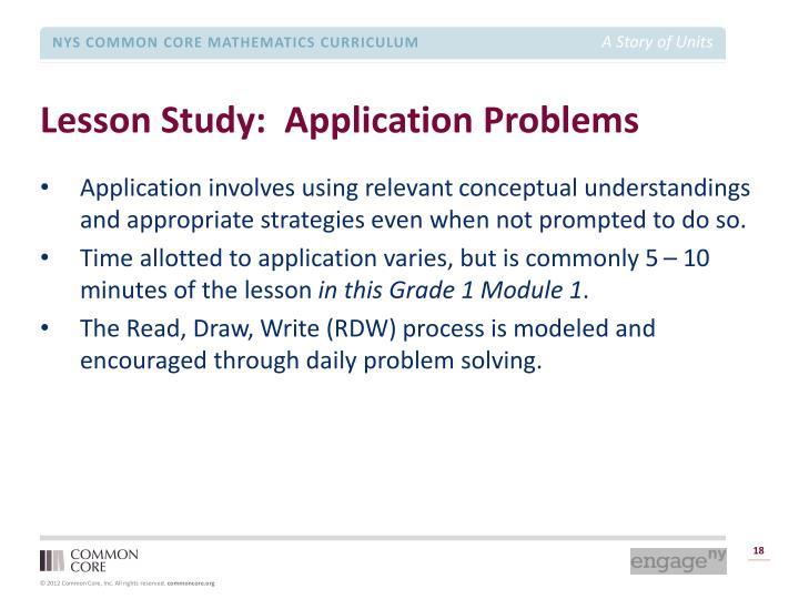 Lesson Study:  Application Problems