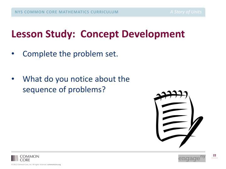 Lesson Study:  Concept