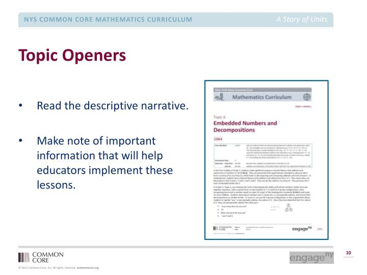 Topic Openers