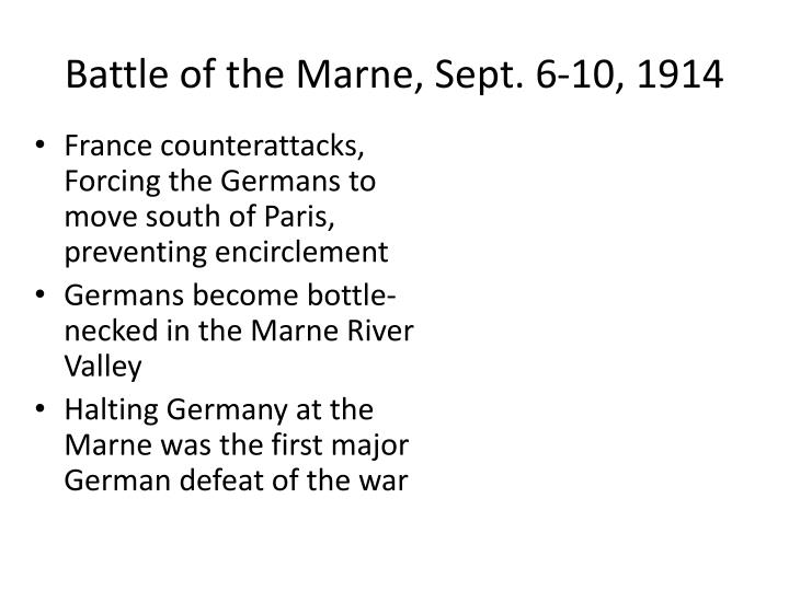 Battle of the Marne, Sept. 6-10, 1914