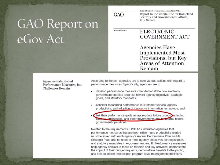 GAO Report on