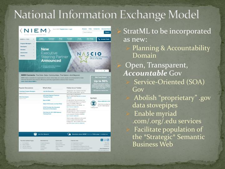 National Information Exchange Model