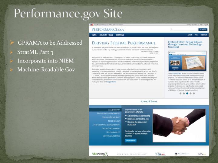 Performance.gov Site