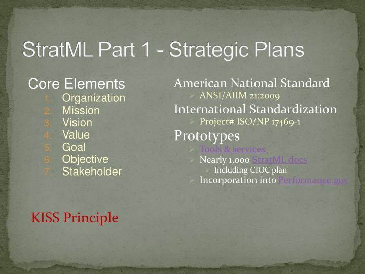 StratML Part 1 - Strategic Plans