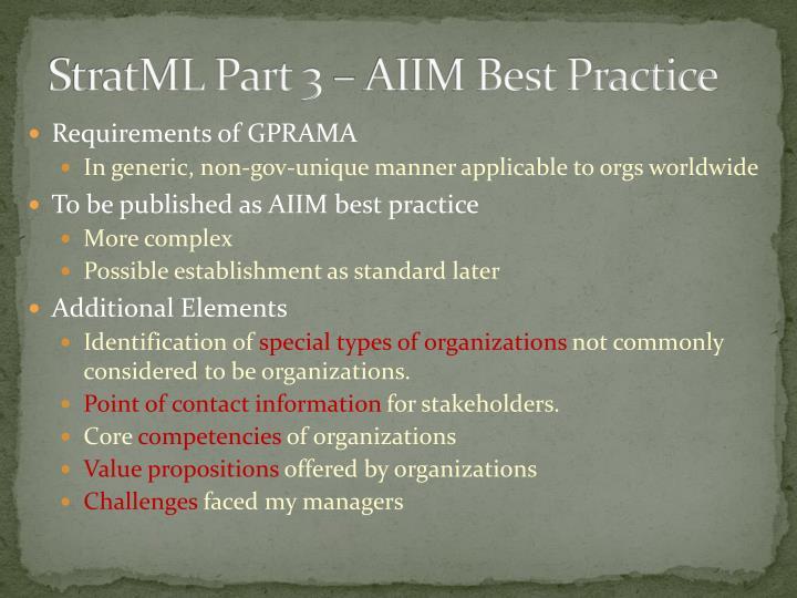 StratML Part 3 – AIIM Best Practice