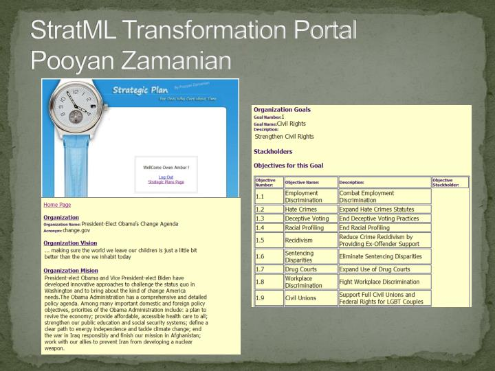 StratML Transformation Portal