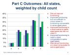 part c outcomes all states weighted by child count