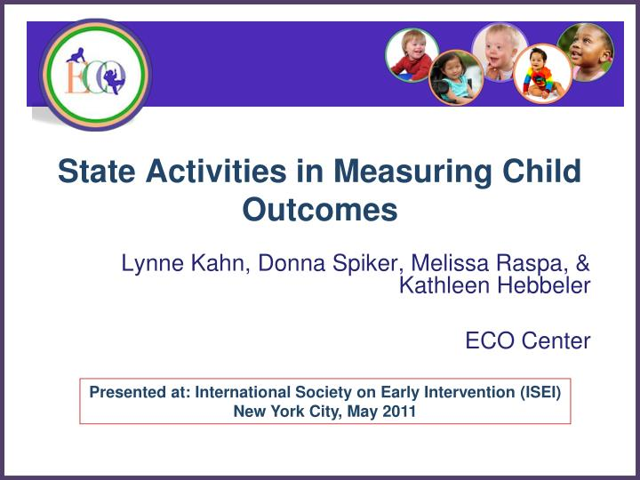 State Activities in Measuring Child Outcomes
