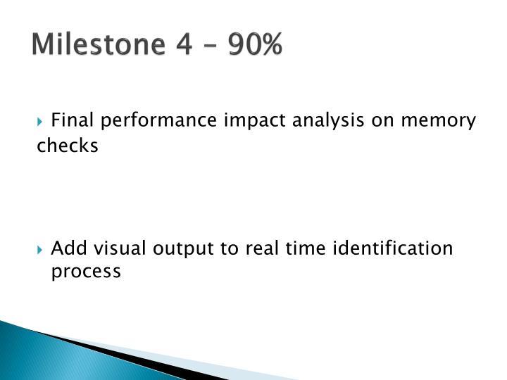 Milestone 4 – 90%